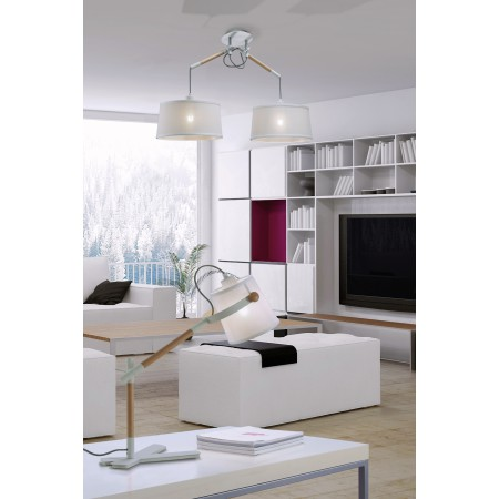 4922 Table Lamp WHITE/SHADE 1x23W E27 (No inc.)