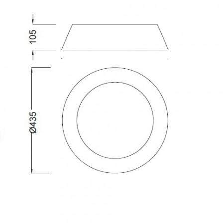 4961E CEILING 45cm OFF WHITE 3xE27 13W (No Inc)