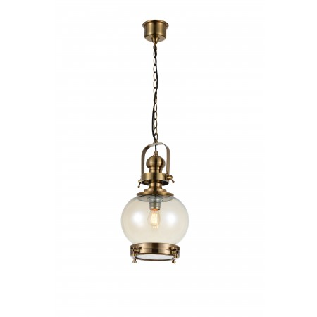 4973 Round Lamp 1L SMALL 1xE27 60W Antique Brass