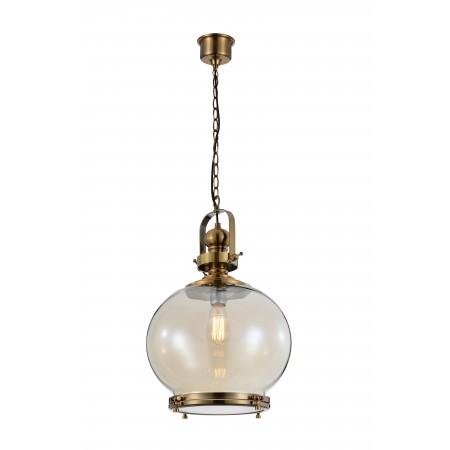 4974 Round Lamp 1L MEDIUM 1xE27 60W Antique Brass