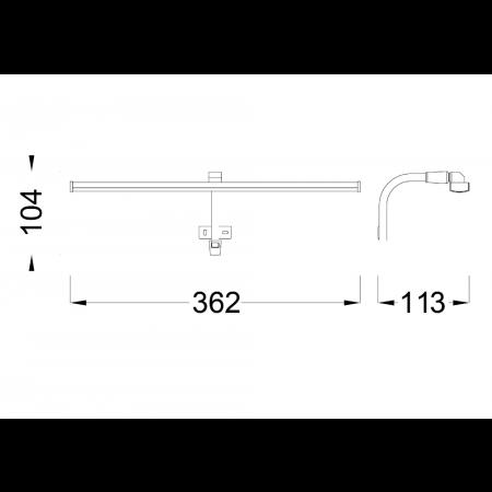 ^5085 WALL LED 362*113*104mm 6W/4000K Alu/Chrom
