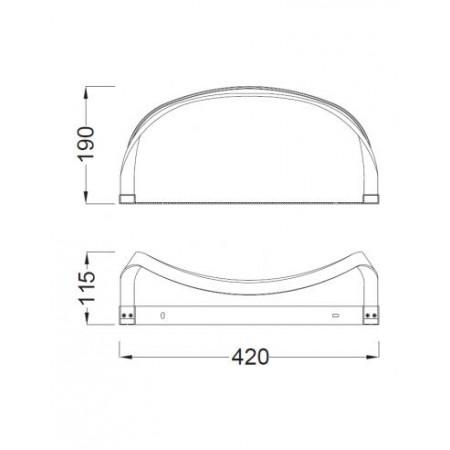 5087 WALL LED 407*142*176mm 12W/4000K Alu/Chrom