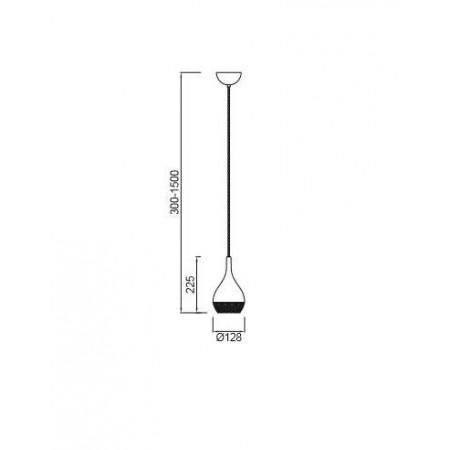 5160 Chrom LED 1xGU10 8W (no incl)