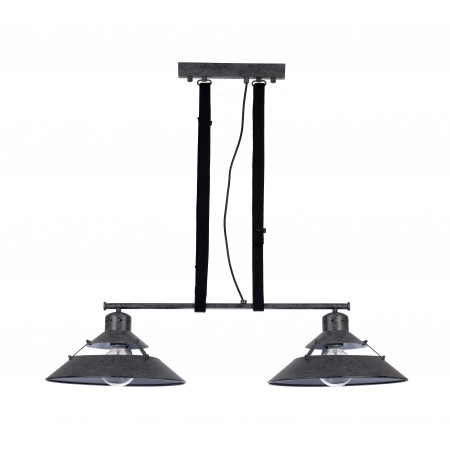 ^5443 DOUBLE Lamp 2L LINE BLACK OXIDE 2xE27 40W (N