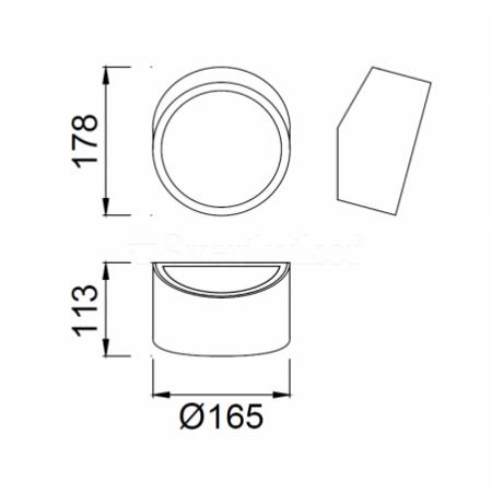 5482 WALL 2L ROUND SILVER 2xLED G9 5W (No Inc)