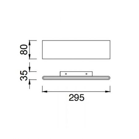 аплик 5491 WALL 12W SANDY WHITE LED 12W/3000K