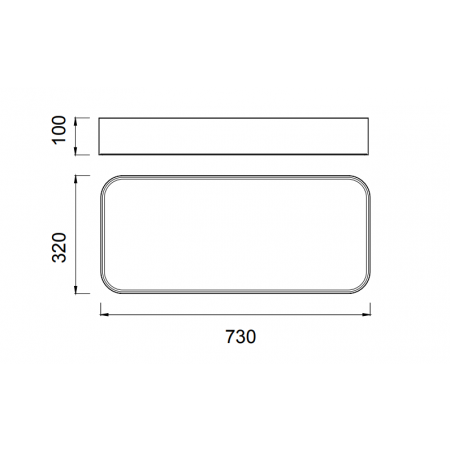 5501 RECTANGULAR CEILING 73x32 WHITE LED50W/4200K