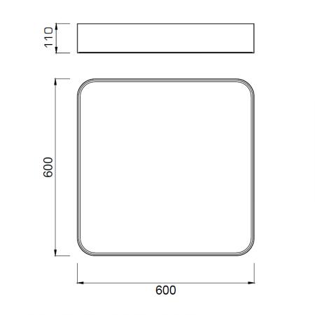 плафон 5513 SQUARED CEILING LAMP 60x60cm WHITE 80W/4200K