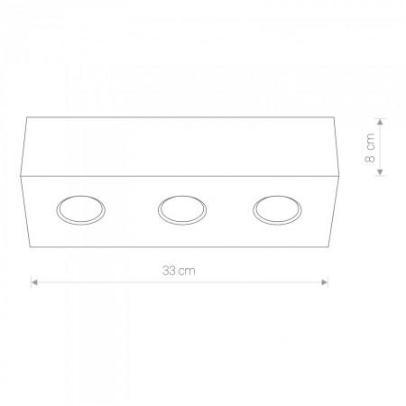 5575 CARSON white III plafon