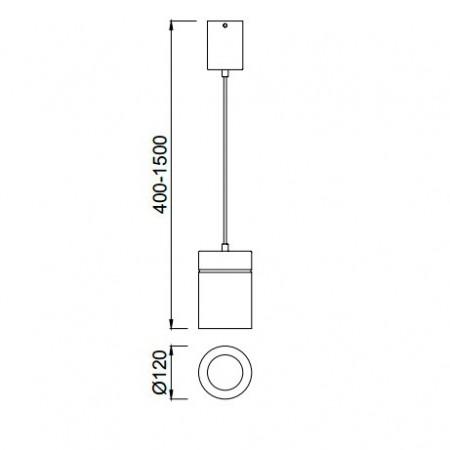 5622 PENDANT BIG 1LWHITE1 x max E27 40W (No Inc)
