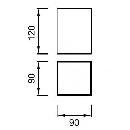 ^5631 CEILING 1L SILVER 1xGU10 40W (No Inc)