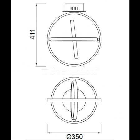 5746 CEILING 35cm WHITE LED 40W/3000К