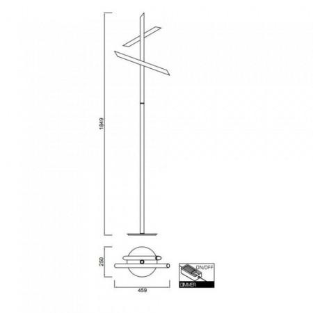^5775 FLOOR LAMP LED 15W/3000K BRONZE Dimmable