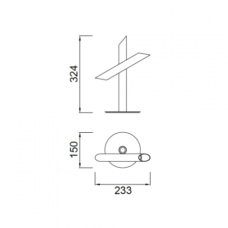 ^5777 TABLE LAMP LED 9W/3000K BRONZE