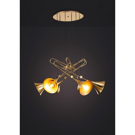 5895 PENDANT 6L GOLD 6xE27 20W (No Inc)