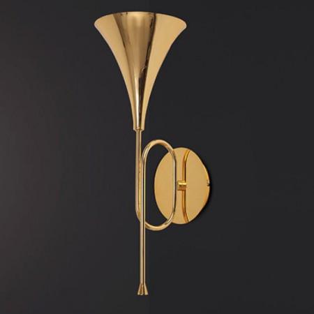 5898 WALL LAMP 1L GOLD 1xE27 20W (No Inc)