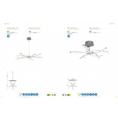 6030 Ceiling LED 42W/3000K (AIRE) Chrom/Silver