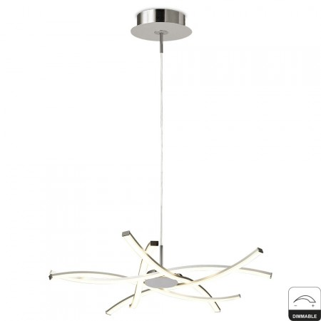 5912 Pend LED 42W/3000K DIMMABLE AIRE Chrom/Silver