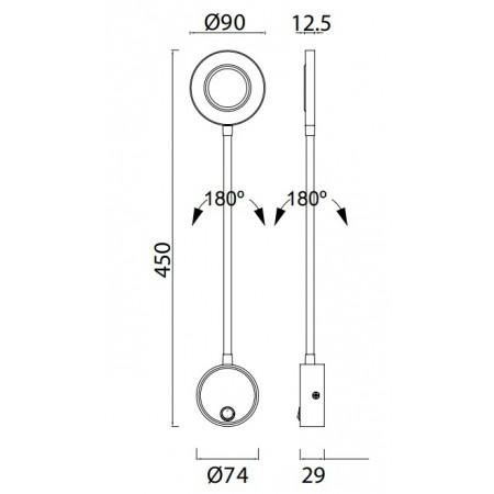 6051 BLACK LED - 5W - 3000K