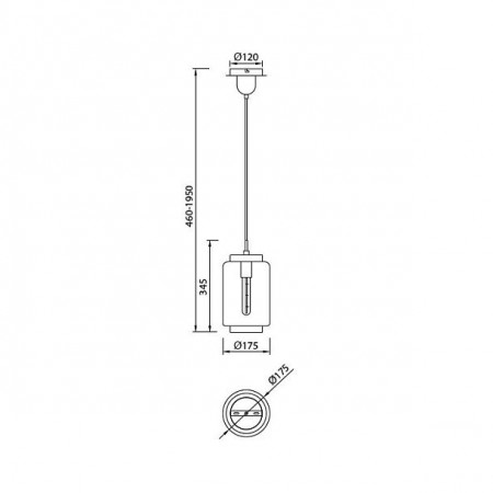 6200 CHROME / GRAPHITE 1 x E27 max. 40W (No Inc)
