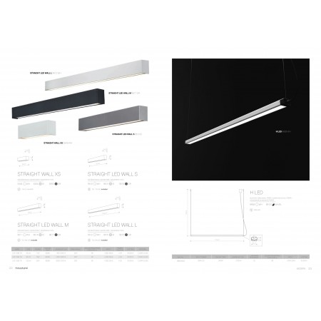 9615 STRAIGHT WALL LED SILVER L