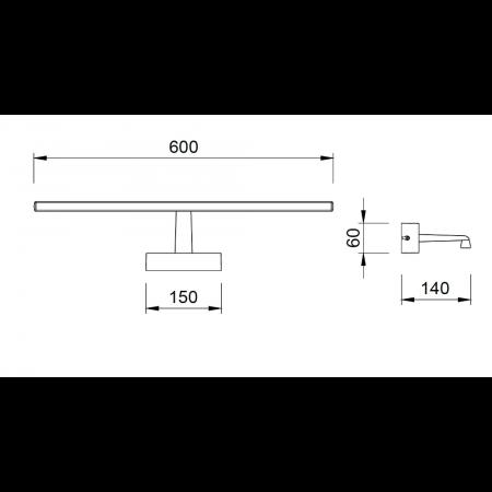 ^6361 CHROME LED 12W - 3000K - IP44