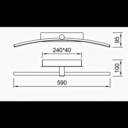 6371 CHROME LED 12W - 3000K