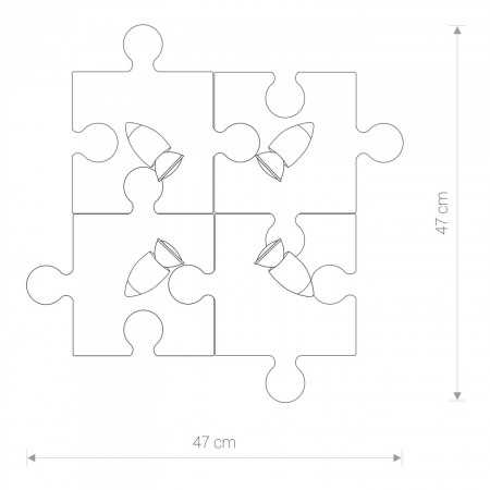 9728 PUZZLE GRAY IV