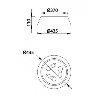 6413 BROWN 3 x E27 max. 40W (No Inc)