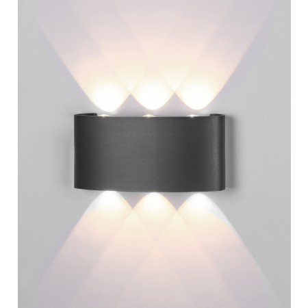 6540 LED 6W/3000K DARK GREY Outdoor