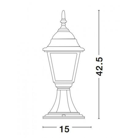 лампион / правостояща лампа, външна лампа 664202