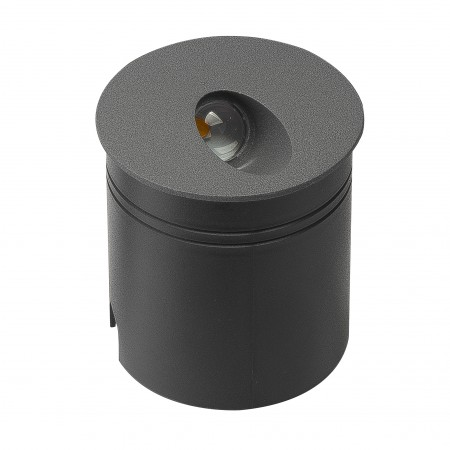 7021 DARK GREY WALL  LIGHT ROUND 3W/3000K