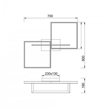 плафон 7462 48W/3000K Black Techo/Ceiling