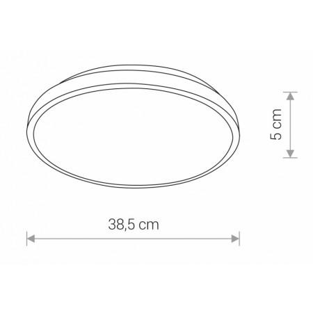 плафон 8204 AGNES ROUND LED BLACK 22W/3000K IP44