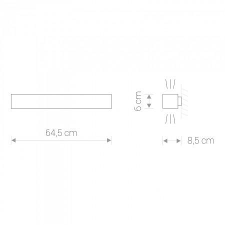 9525 SOFT LED GRAPHITE 60X6 KINKIET