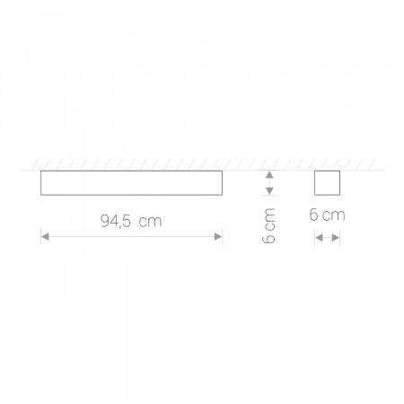 9536 SOFT LED GRAPHITE 90X6