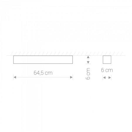 9537 SOFT LED GRAPHITE 60X6