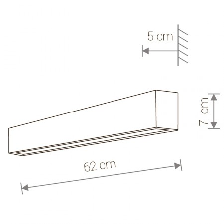 9618 STRAIGHT WALL LED GRAPHITE S