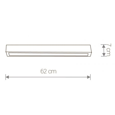 9626 STRAIGHT LED graphite ceiling S