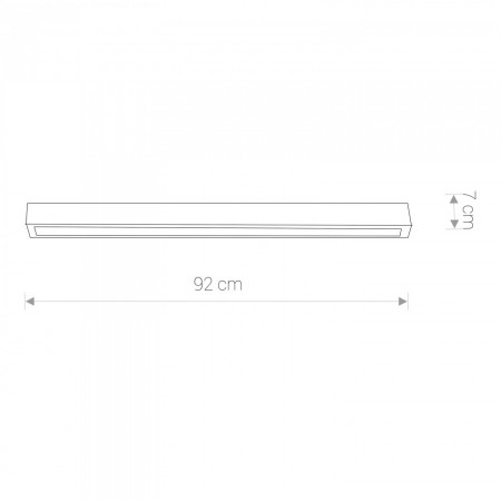9627 STRAIGHT LED graphite ceiling M