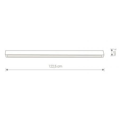 9628 STRAIGHT LED graphite ceiling L