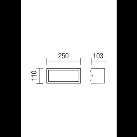 9896 BRICK AP/PL 1X23W E27 IP54 DG