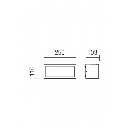 9897 BRICK AP/PL 1X15W E27 IP54 R