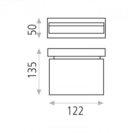 аплик A167641C (16/764 CHROMO 6x1W/4200K IP44)