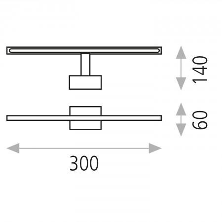 A318310C (16/3183 Chromo IP44 30cm 11W/3200K)