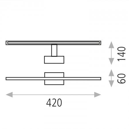 A318320C (16/3183 Chrom IP44 42cm 19W/3200K)