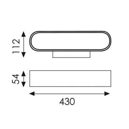 аплик A318910B (16/3189 White 21W/3200K 43cm)