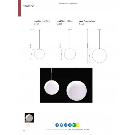 1398 IP44 INDOOR - NO SWITCH 1 x max E27 20W (No I