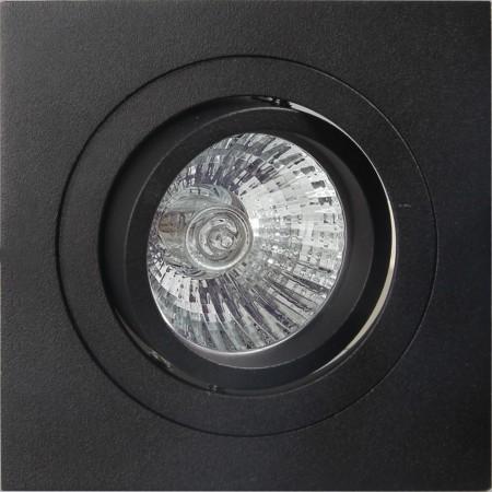 C0008 SPOT SQUARE BLACK 1xGU10 max. 50W (No Inc.)