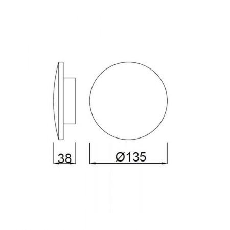 C0111 LED ?135mm Alu/Silver 6W/3000K
